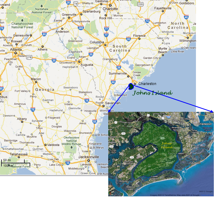 Johns Island Overview Map